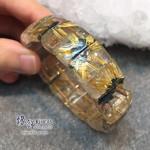 巴西 4A+ 爆花金鈦晶手排 16.9x6.5mm