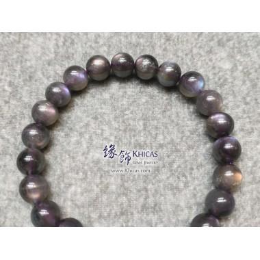 印度 5A+ 紫光拉長石手串 8.5mm+/-