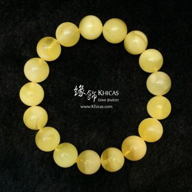 波羅的海 白花蜜蠟圓珠手串 11.5mm+/-