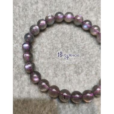 印度 5A+ 紫光拉長石手串 7.5mm+/-