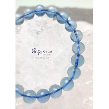 巴西 5A+ 冰透海藍寶手串 9.3mm+/-