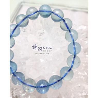 巴西 5A+ 冰透海藍寶手串 12mm+/-