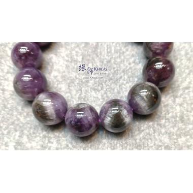加拿大 5A+ 紫黑極光 Auralite 水晶帶鈦眼手串 18mm+/-