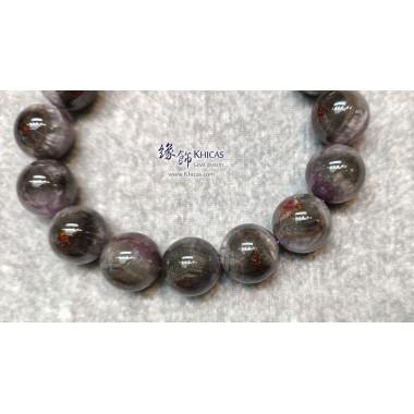 加拿大 5A+ 紫黑極光 Auralite 水晶帶鈦眼手串 15mm+/-
