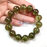 巴西 5A+ 玻璃種綠碧璽手串 ~14-15mm+/-(另包含一..