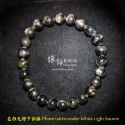 5A+ 金運石 / 黑銀線石手串 7.8mm+/-
