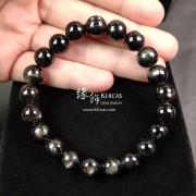 5A+ 金運石 / 黑銀線石手串 10.4mm+/-