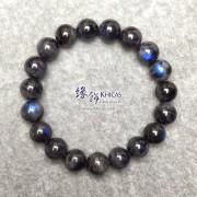 馬達加斯加 5A+ 黑體貓眼藍光拉長石手串 10.3mm+/-