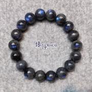 馬達加斯加 5A+ 黑體貓眼藍光拉長石手串 11mm+/-