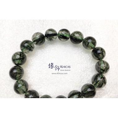 巴西 4A+ 粗髮綠髮晶手串 11.7mm+/-