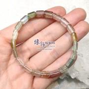 巴西玻璃種彩碧璽手排 ~8mm