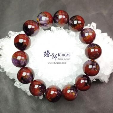 加拿大 5A+ 極光 Auralite-23 水晶帶鈦眼大珠手串 16.5mm+/-