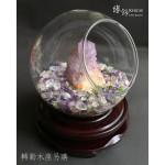 大玻璃球彩晶碎石 + 紫羅蘭水晶擺設