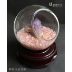 大玻璃球粉晶碎石 + 紫羅蘭水晶擺設