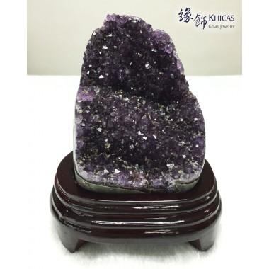烏拉圭紫水晶花擺件