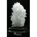 高聳直立 5A+ 巴西白水晶簇