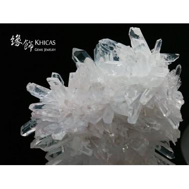 直立壯觀.5A+ 巴西白水晶簇