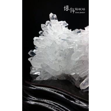 高質、通透巴西 5A+ 白水晶簇