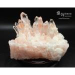 巴西紅兔毛水晶簇原礦(連可轉動木座)