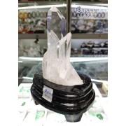 巴西 5A+ 白水晶簇 (連木座)