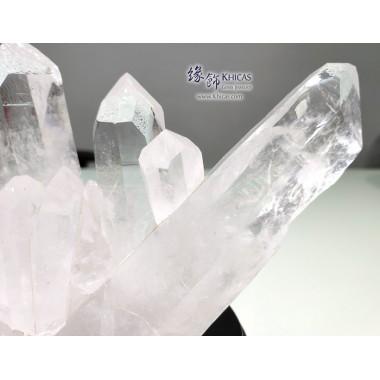 巴西 5A+ 白水晶簇(連木座)