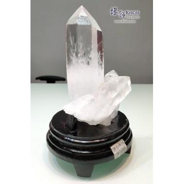 5A+ 巴西白水晶簇(連木座)