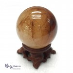 巴西銅髮晶水晶球 60mm