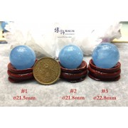 巴西海藍寶水晶球連木座【多款可選—$950起】