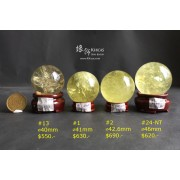 巴西黃水晶球連木座【多款可選—$550起】