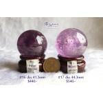 巴西紫水晶球連木座【兩款可選—$440起】