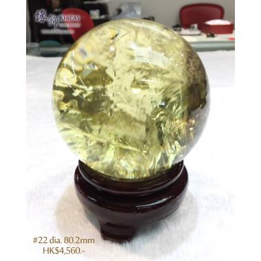 巴西黃水晶球連木座【多款可選—$4,560起】