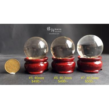 巴西近全清白水晶球連木座【多款可選—$490起】