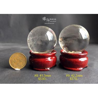巴西近全清白水晶球連木座【多款可選—$530起】
