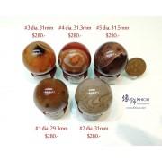 波斯灣瑪瑙水晶球連木座【多款可選—$280起】