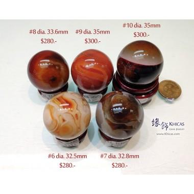 波斯灣瑪瑙水晶球 連木座【多款可選—$280起】