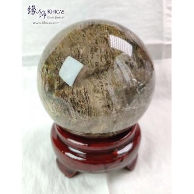 巴西千層紅+綠幽靈水晶球 75.2mm+/-