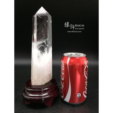 巴西白水晶柱擺件