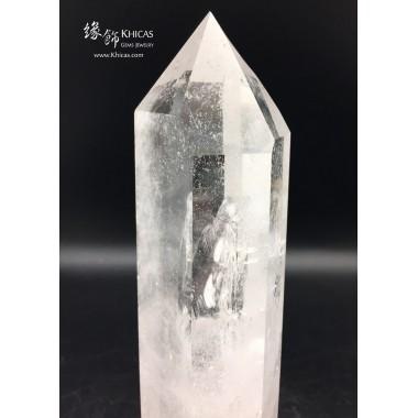 巴西白水晶柱 10x8x23cm