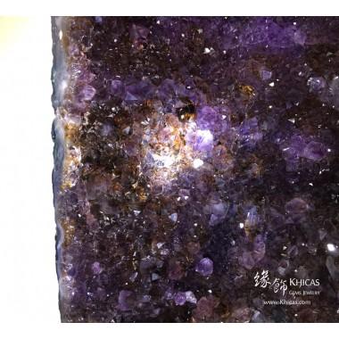 巴西紫晶洞.含金鈦絲共生