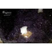巴西紫晶洞.黃晶+方解石共生
