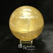 金黃色方解石水晶球 9cm