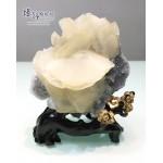 方解石花+白水晶共生原礦 / 原石擺設