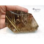 巴西金鈦晶原石擺件