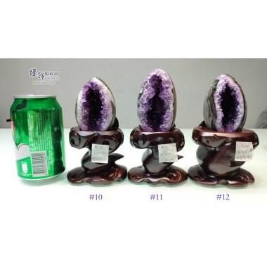 烏拉圭鵝蛋形 迷你紫晶洞 連木座【多款可選—$2480起】