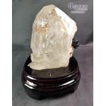 巴西骨幹水晶(帶黑碧璽共生)原石/原礦擺設
