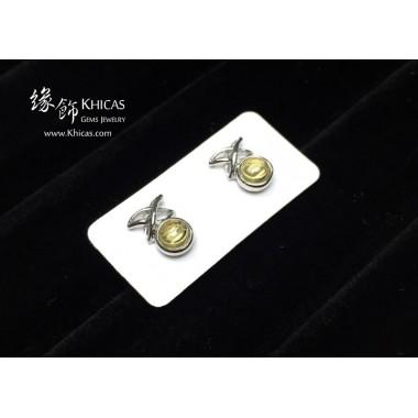 黃水晶 天星耳環