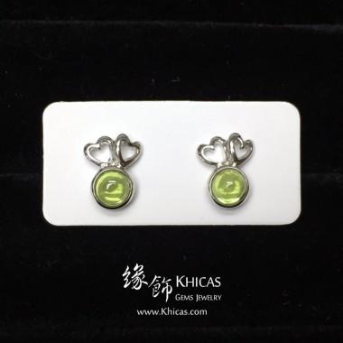 橄欖石 心心雙印耳環