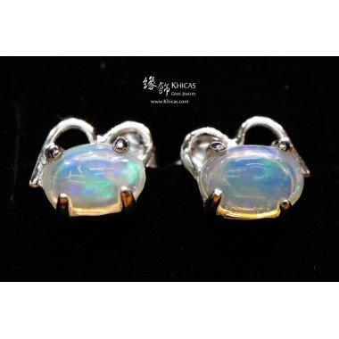 澳洲澳寶石(閃山雲)耳環