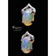 澳洲 澳寶石(閃山雲)耳環