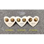 巴西金髮晶 S925 銀框耳釘【多款可選,每對HK$580.-】